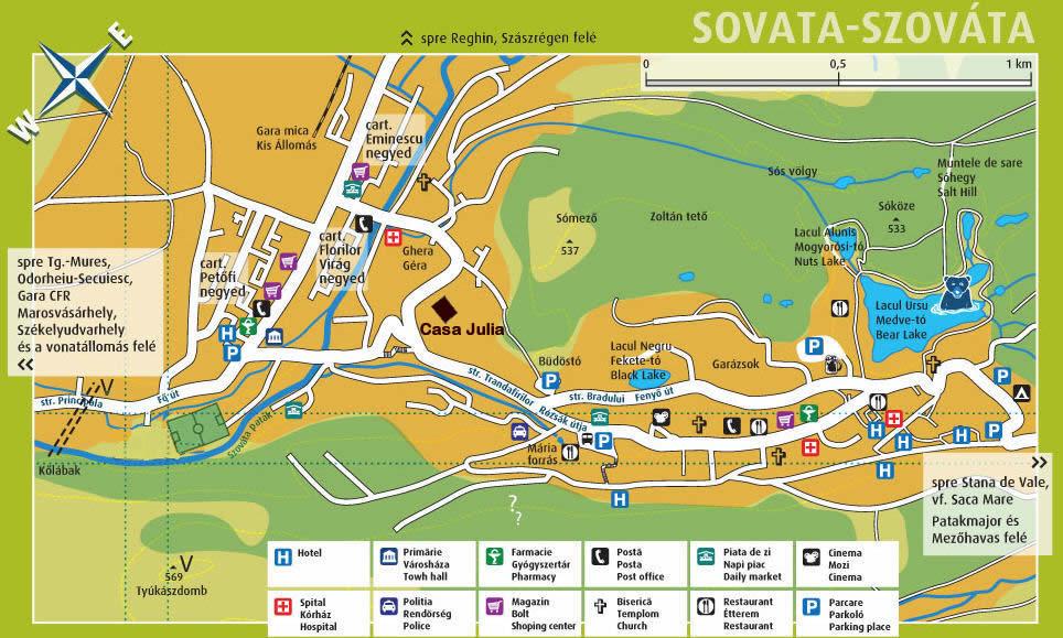 Harta turistica Sovata   cazare