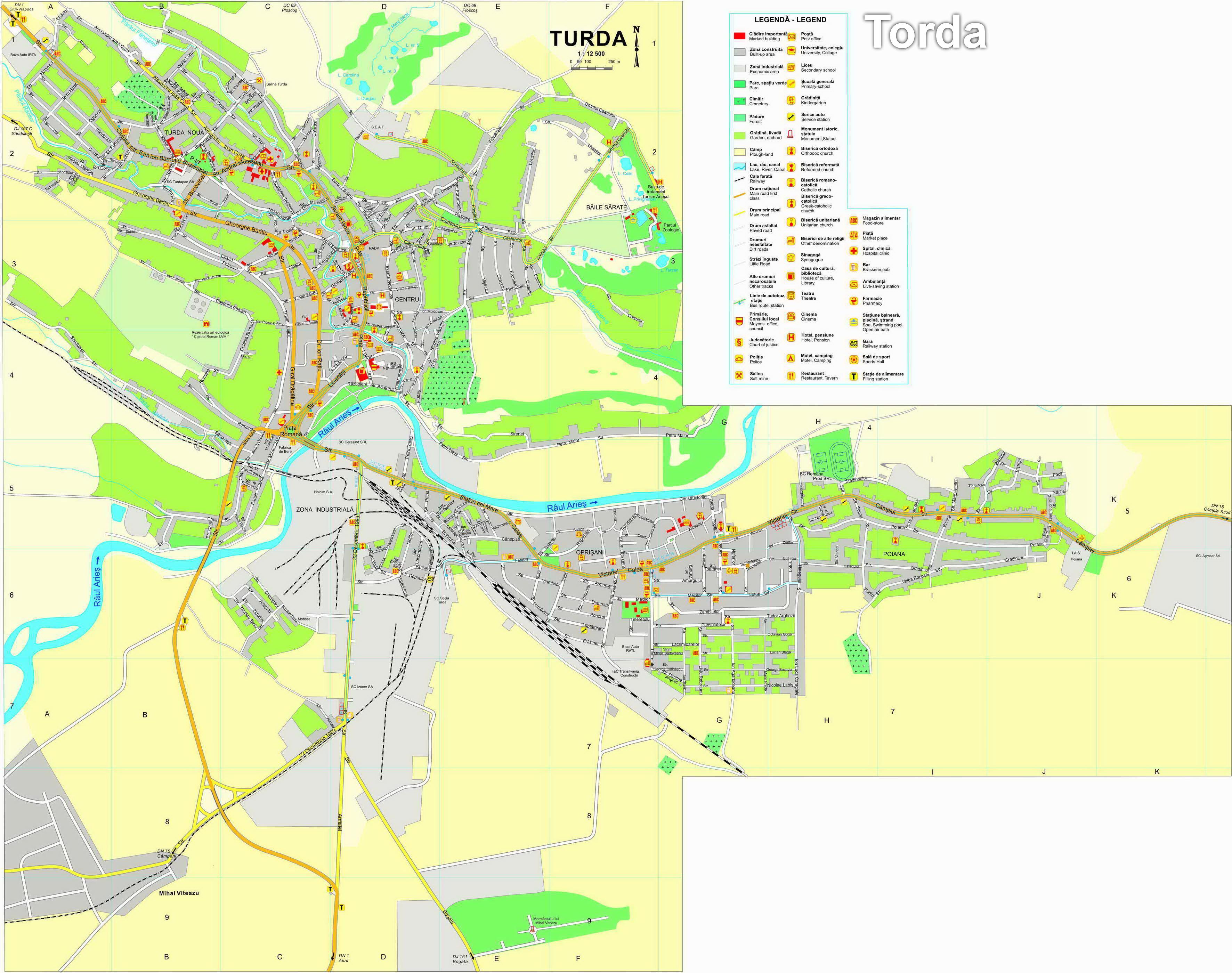 Harta turistica Turda cazare