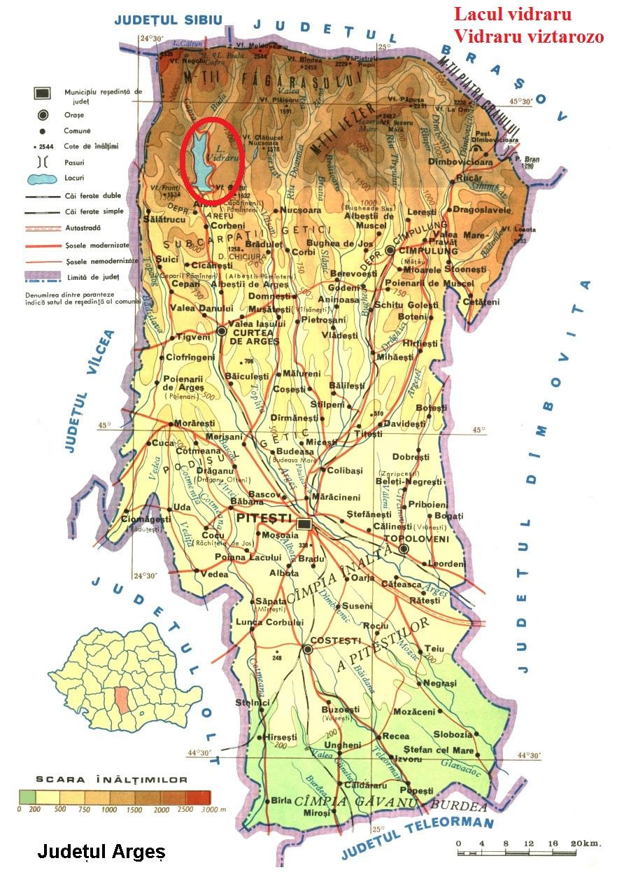 Harta turistica Lacul Vidraru cazare