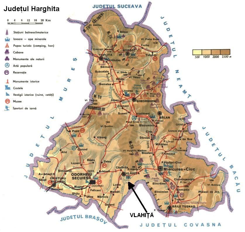 Harta turistica Vlahita cazare