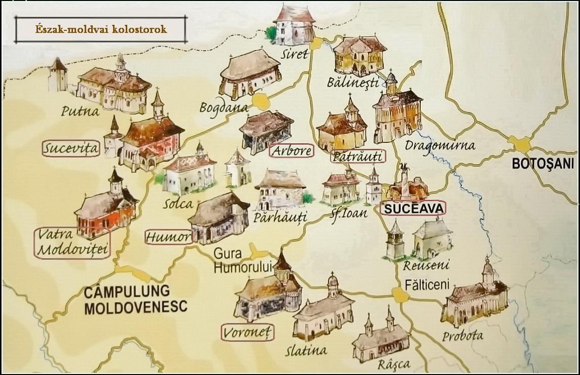 Észak-moldvai kolostorok - Bukovina